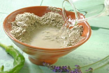 préparation pour cataplasme d'argile verte
