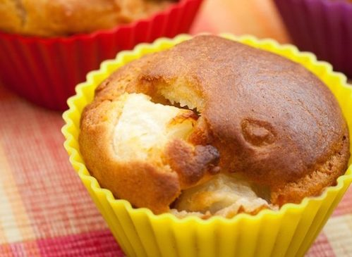 Muffins aux pêches.