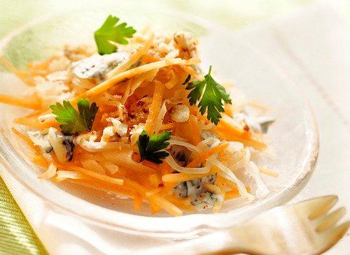 Salade aux carottes et au chou.